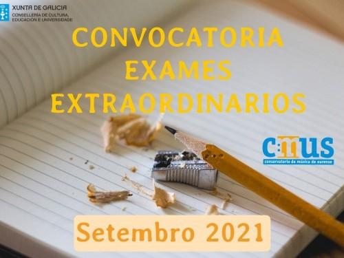 EXAMES EXTRAORDINARIOS Setembro 2021